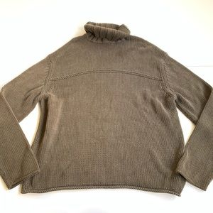 Banana Republic turtleneck olive green sweater XL